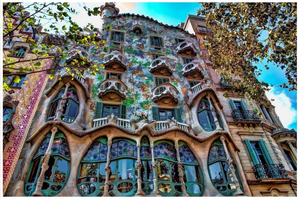 Casa Batlló home in Barcelona, Spain
