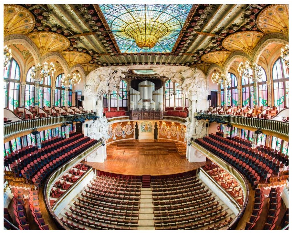 Palau de la Música Catalana music hall in Barcelona, Spain