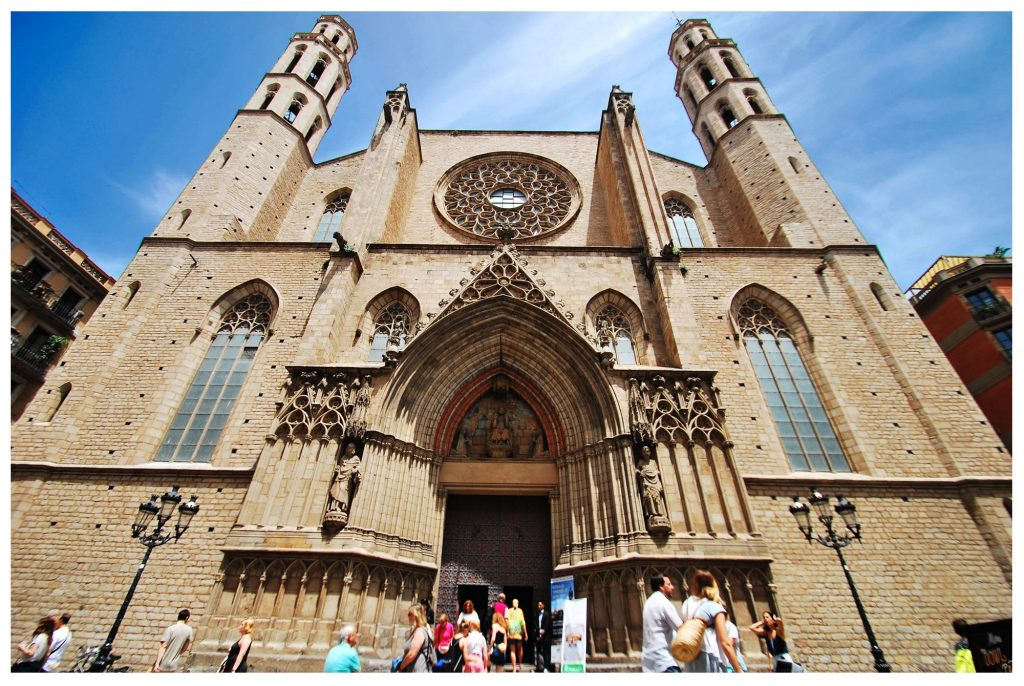 Gothic church-Santa Maria del Mar-Barcelona, Spain