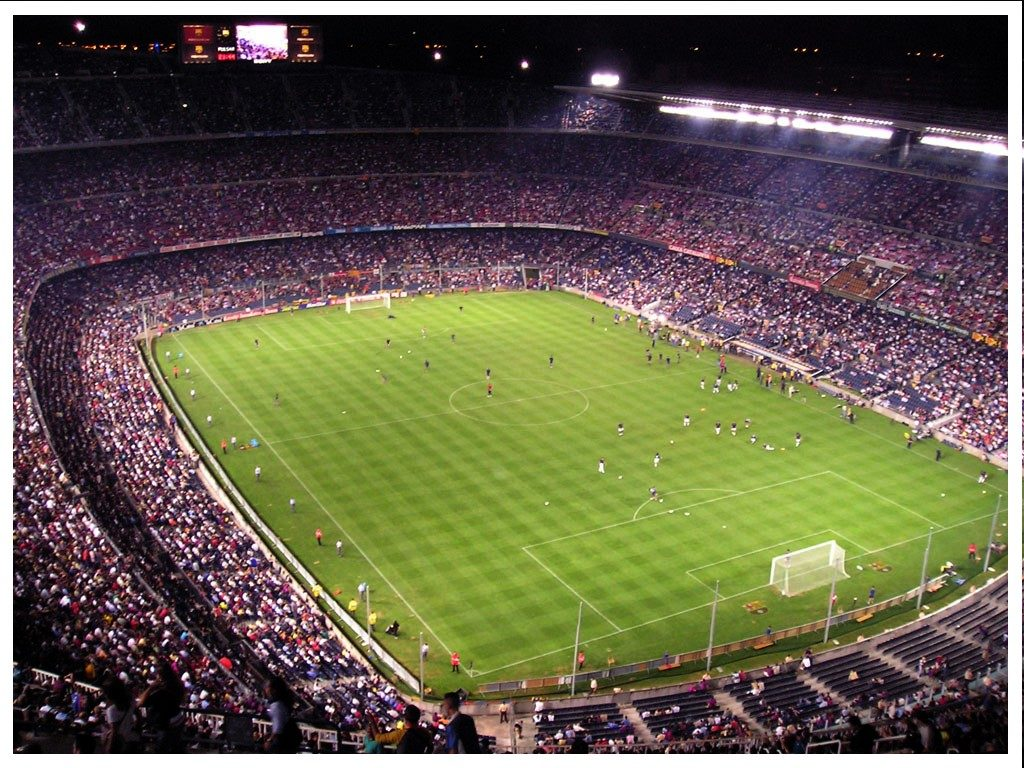 Camp Nou cathedral in Barcelona, Spain
