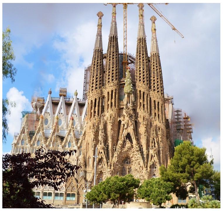 Sagrada Família temple in Barcelona, Spain