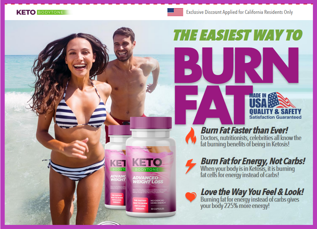 An image of a man and woman showing Keto diet pills.