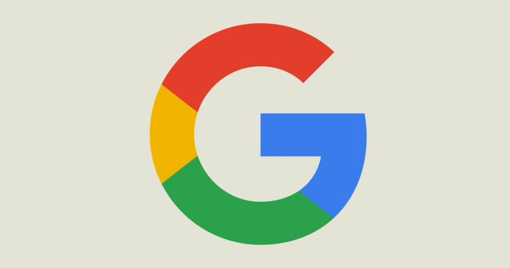 A Google logo image.